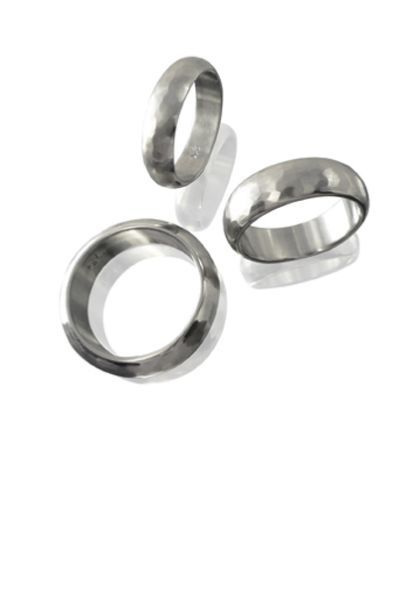 Agàs Ring Half-round matt forged